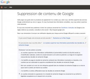 suppression google