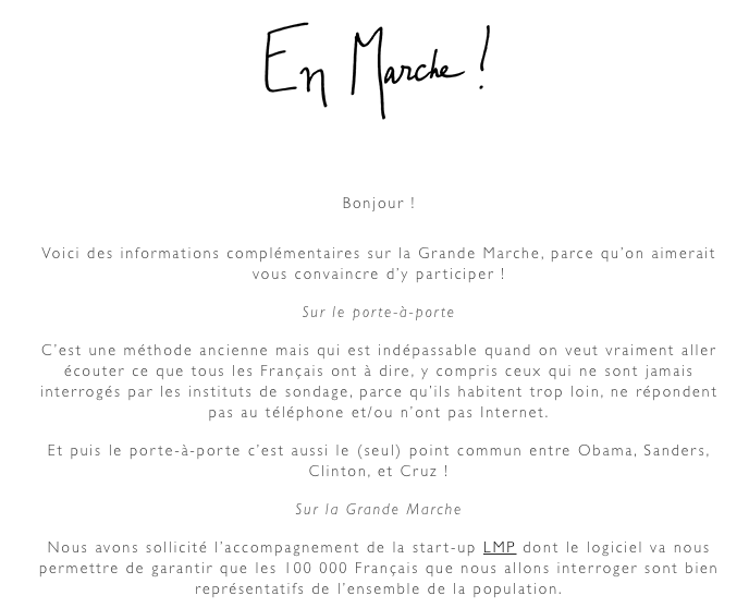 Le mouvement d'Emmanuel Macron lance sa marche